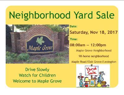 Maple Grove neighborhood yard sale