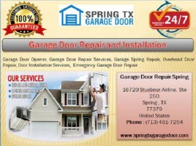 24/7 Quickly Garage Door Repair Services | Spring 77379 TX | $25.95