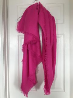 Hot pink blanket scarf. Never used.
