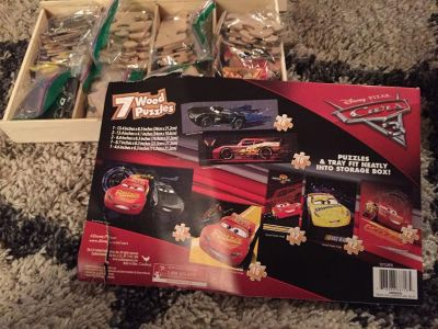 Cars set of puzzles
