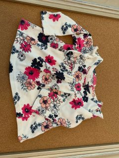 0-3m pink and navy floral