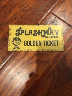 Splashway free kid ticket from report cards EXP 6/28