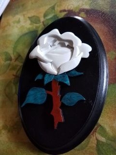 Handcrafted white rose!