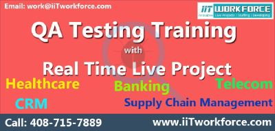 QA online training on live-projects by IIT Workforce.