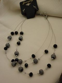 new 3 strand necklace/earrings