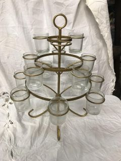 Iron candle holder, missing one glass cup (simple to replace)