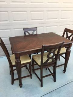 6-Pc Solid Wood Pub Height Dining Set