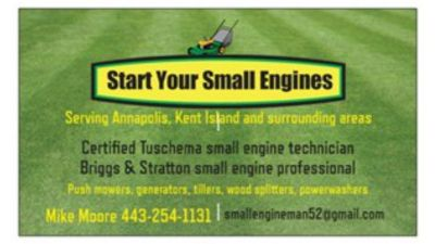 Start Your Small Engines