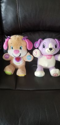 Leap frog and Fisher price laugh & and learn puppy
