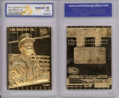 *** KEN GRIFFEY JR 1997 Fleer 23KT Gold Card Graded 1989 Rookie ***