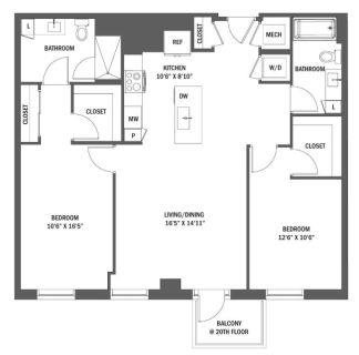 $7380 2 apartment in Reston