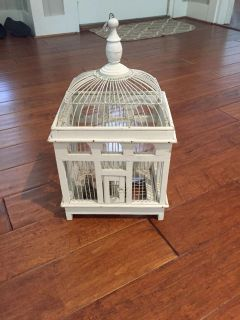 Really cute wood decorative birdcage-19 tall