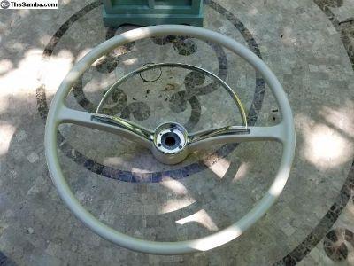 Refurbished VW Beetle Stering Wheel - Silver White