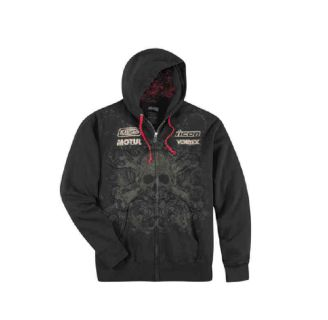 Purchase Icon Rat Hoody Black Red Skull Large L Lg Large NEW motorcycle in Elkhart, Indiana, US, for US $65.00
