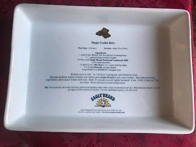Eagle Foods Brand ELSIE the cow Magic Cookie Bar Recipe 13X9 Baking Pan