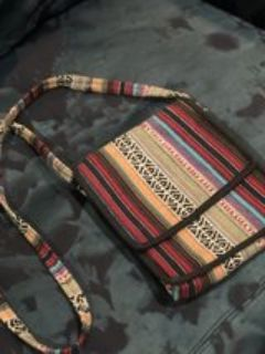 light weight cross body made of Nepalese cloth