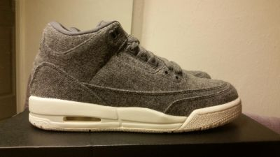 Air Jordan 3 Retro Wool gs youth sizes 6y, 7y = up to women 8.5 NEW and authentic