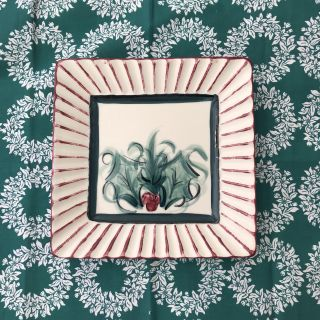 PRETTY 8x8 inches CHRISTMAS SERVING PLATE