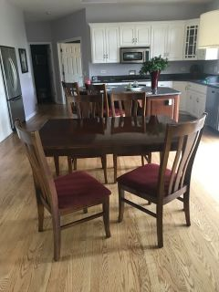 """Table and 4 Chairs includes a 12"""" leaf"""