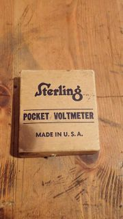 $15, Antique Sterling Pocket Voltmeter In Box