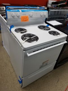 Frigidaire white spiral stove never used