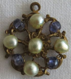 Small Pendant - Pearls and Iolite