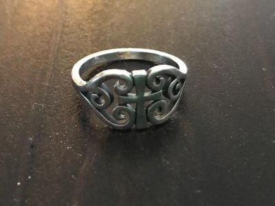 James Avery, Scroll Cross Ring, size 7 1/2