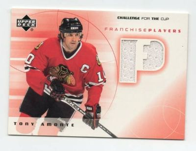 CHICAGO BLACKHAWKS TONY AMONTE GAME USED JERSEY CARD