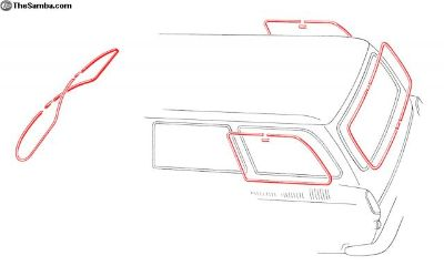 New Squareback Window Molding Kit With Pop-Outs