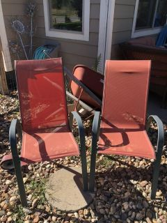 2 Sling Back Patio Chairs