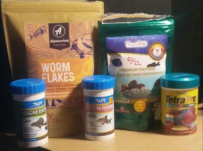 Assorted Lot Food for Fish/Bottom Feeders