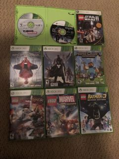 500GB Xbox w/ controller and 9 games $115