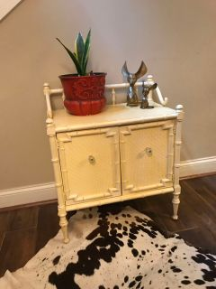 Vintage wood cabinet. Used in bathroom and bedroom. So many uses!