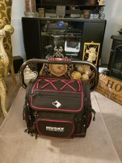 LIKE BRAND NEW = Husky Heavy- Duty Large Mouth Contractor s Tool Bag {w/30+ pockets & so much more to offer} [W-EOB]