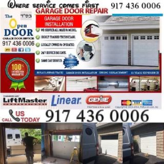 GARAGE DOOR REPAIR SERVICE/ QUEENS/ LONG ISLAND 🌴 INSTALL - DOORS - OPENERS - SPRINGS - CABLES
