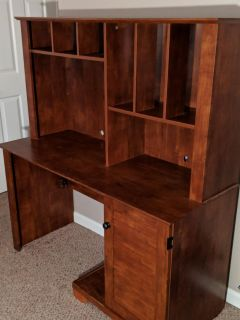 Wood Computer Desk with Filing Drawer
