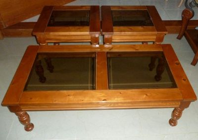 Set of country style coffee table +2 matching end tables