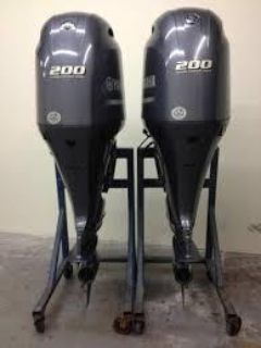 Used Yamaha 200HP 4 Stroke Outboard Motor Engine