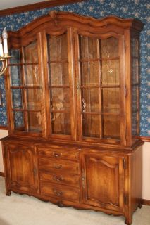 Ethan Allen Country French Dining Room China Cabinet