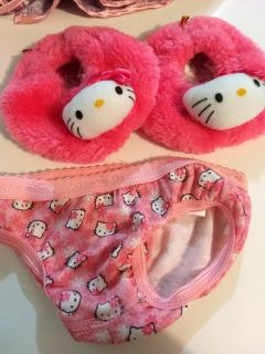 Build-A-Bear Hello Kitty slippers and undies