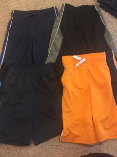 Shorts size 6 old navy, Gymboree and champion