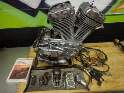 Purchase 1993 SUZUKI VS 800 GL INTRUDER BOBBER CHOPPER COMPLETE ENGINE MOTOR VS800 95 motorcycle in Canton, Ohio, United States