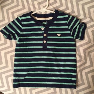 Carters 18mo navy and teal shirt with dog