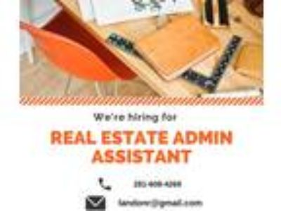 Real estate admin assistant (admin assistant)