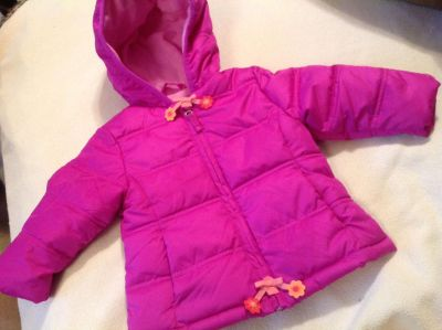 Baby Girl So Cute Warm Winter Coat with Hood! Size 12 months