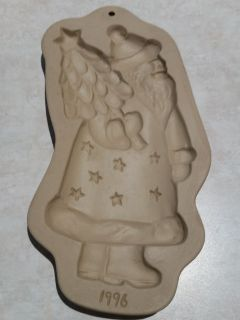 Brown Bag Cookie Art Mold Kris Kringle Santa 1996 Hill Design