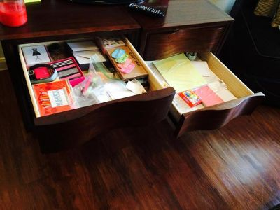 $150, Like New 2 Hardwood End Tables or TV Stand