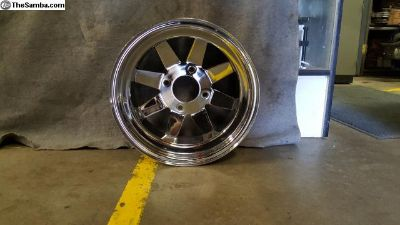 4 Lug Chrome 8 spoke Offroad Rim 15x8