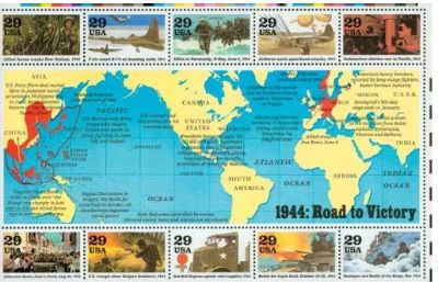 29c WWII STAMPS SET