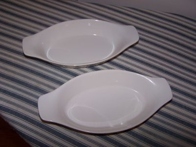 Mini Oval Oven-Safe Au Gratin Dishes with Handles